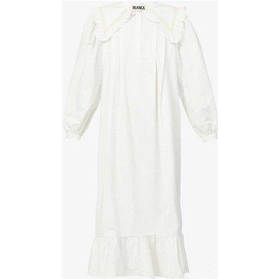 Laurel oversized collar cotton midi dress