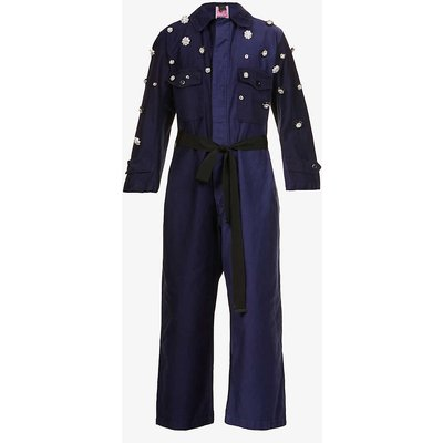 PINKO x Patrick McDowell Castone upcycled woven jumpsuit