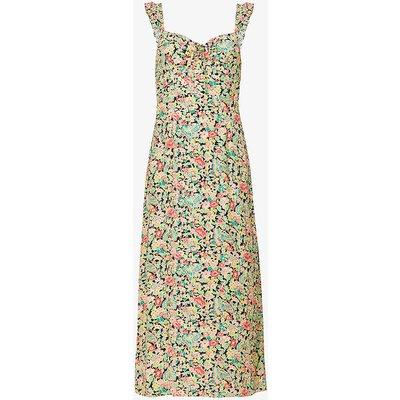Cecile floral-print woven midi dress