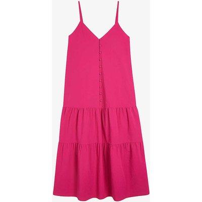 Luaan V-neck crepe midi dress
