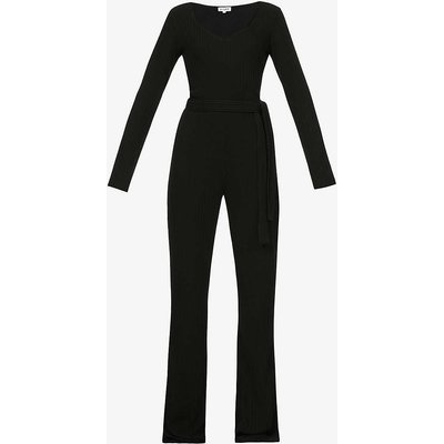Luz belted stretch-jersey jumpsuit