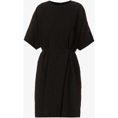 Pittura short-sleeved crepe midi dress