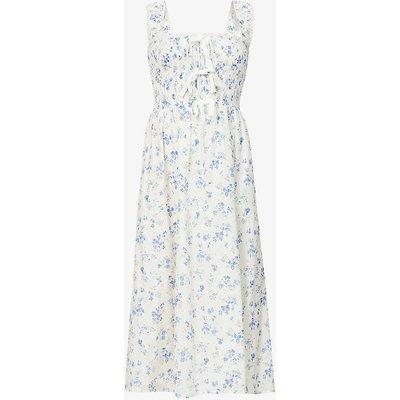 Darla floral-print organic cotton midi dress
