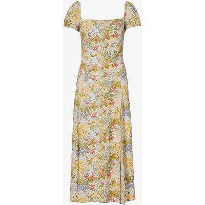 Sienne floral-print crepe midi dress