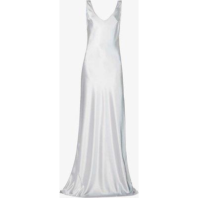 Valetta scoop-neck satin-crepe maxi dress