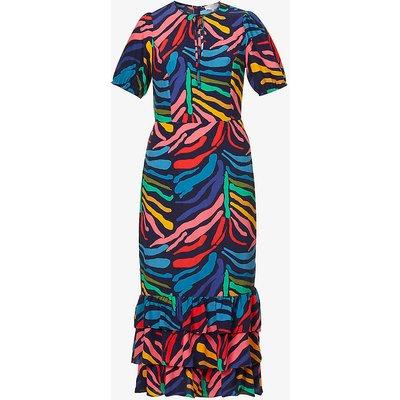 Peta graphic-print crepe maxi dress