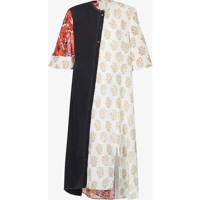 Dayle floral-print upcycled crepe midi dress
