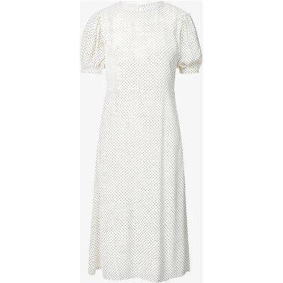 Samirah polka dot woven midi dress