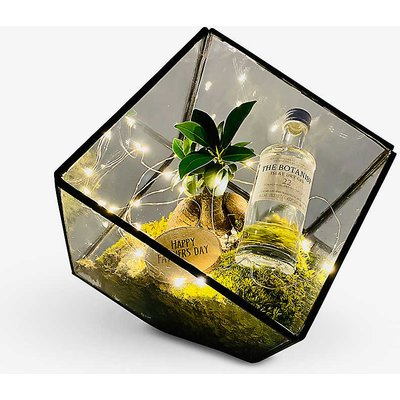 Father's Day Bonsai Gin Cube copper terrarium