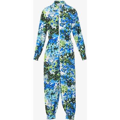 Mina abstract-print silk jumpsuit