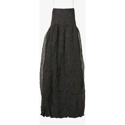 Break Point sleeveless crepe maxi dress