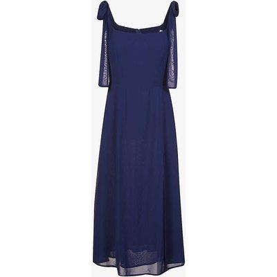 Twilight square-neck chiffon midi dress