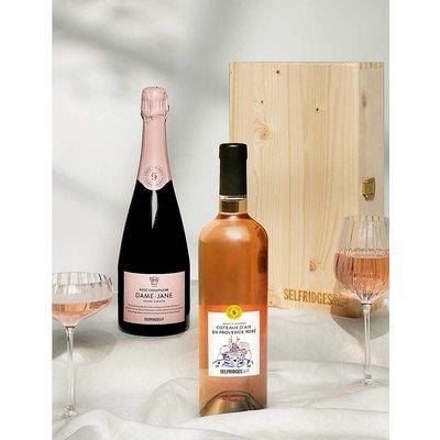 Wine and prosecco gift box