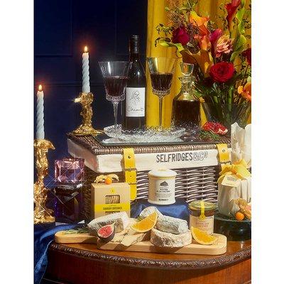 Cheese and wine hamper
