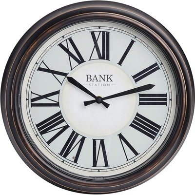Bank station LED clock 36cm