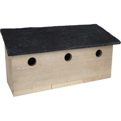 Sparrow colony nest box slate effect roof