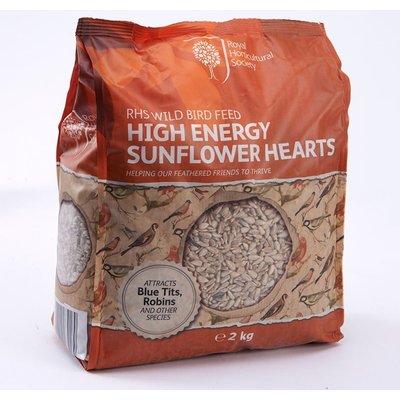 RHS High energy sunflower hearts 2kg