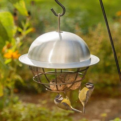 Birdie fat snax feeder ball - aluminium