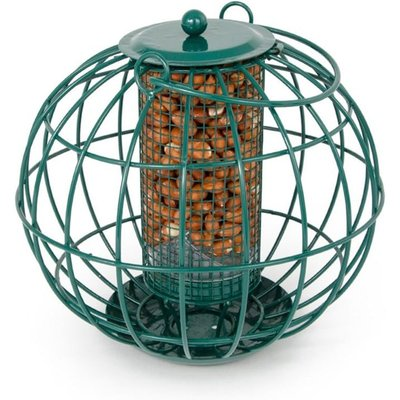 Squirrel resistant peanut feeder