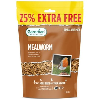 Dried mealworms 1.2kg + 25% extra free 1.2kg + 25% extra