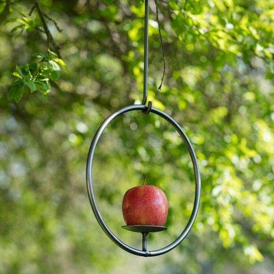 Steel bird feeder