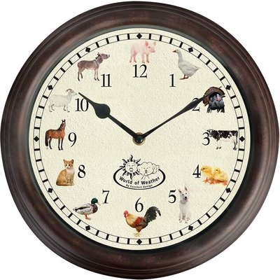 Farm animal sound clock
