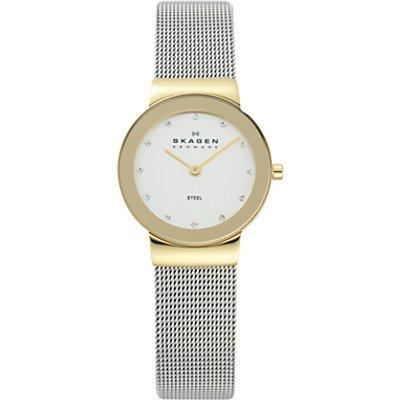 Skagen 358SGSCD Women s Stainless Steel Mesh Bracelet Strap Watch  Silver - 4051432744075