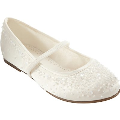 John Lewis & Partners Children's Fairy Mary Jane Bridesmaids' Shoes, Ivory