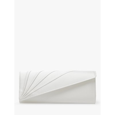 Rainbow Club Tess Satin Clutch Bag, Ivory