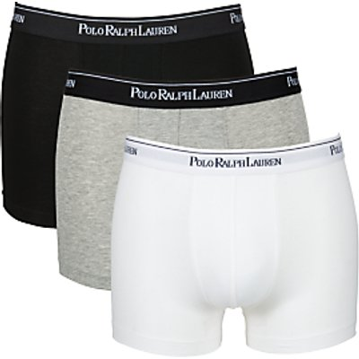 3611585688315 | Polo Ralph Lauren Men s 3 Pack Boxer Shorts   White Heather Black   S