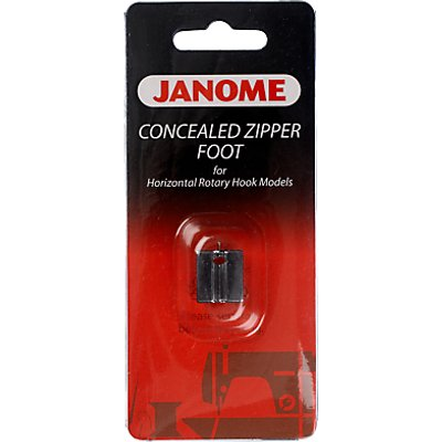 Janome Concealed Zipper Foot  Horizontal Rotary Hook Models - 5027843200317