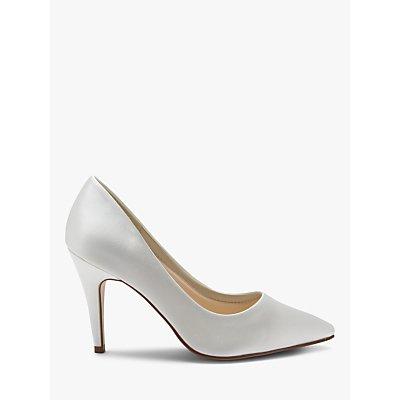 Rainbow Club Vivian Satin Point Toe Court Shoes, Ivory