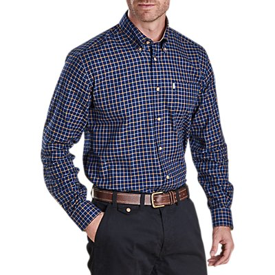 Barbour Bank Check Shirt  Navy - 885798246904