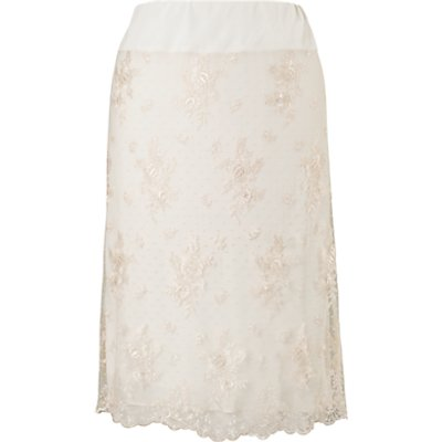 Chesca Scalloped Lace Skirt, Vanilla