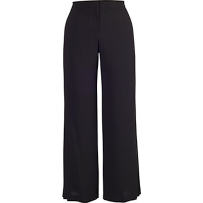 Chesca Pleated Trim Trousers, Black