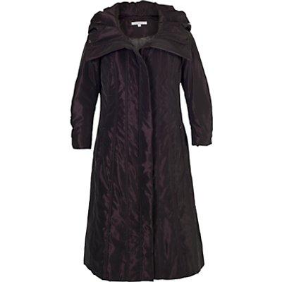 Chesca Stud Trim Quilted Coat, Aubergine