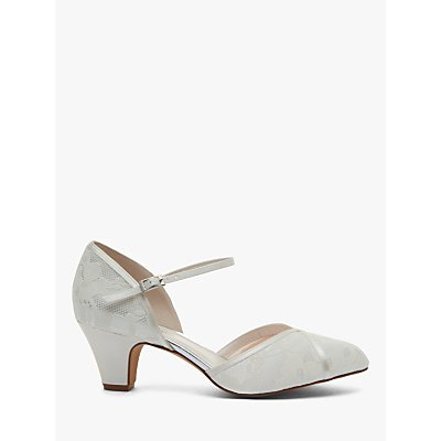 Rainbow Club Shirley Extra Wide Fit Court Shoes, Ivory Satin