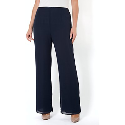 Chesca Jersey Lined Chiffon Trousers