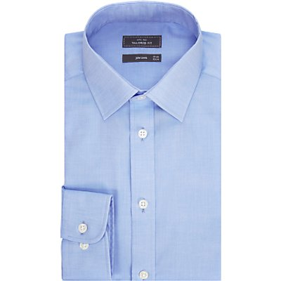 John Lewis & Partners Non Iron Twill Tailored Fit Shirt, Blue