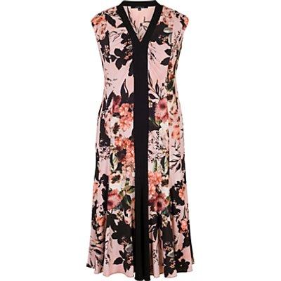Chesca Rose Print Jersey Dress, Apricot