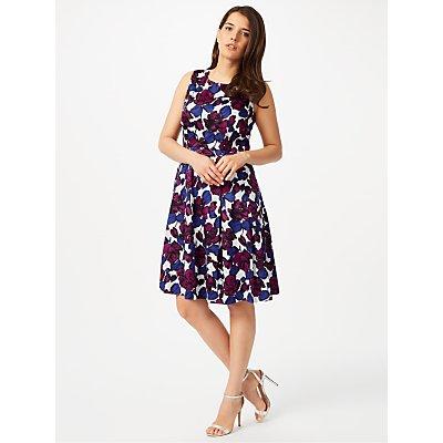 Studio 8 Dina Print Dress, Blue/Purple