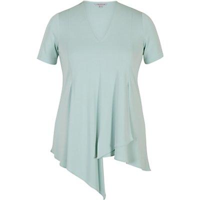 Chesca Asymmetric Layered Jersey Top, Aqua