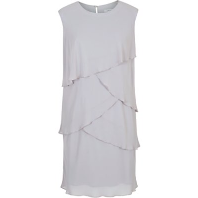 Chesca Layered Chiffon Dress, Silver Grey