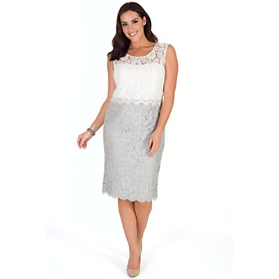 Chesca Scallop Layered Lace Dress