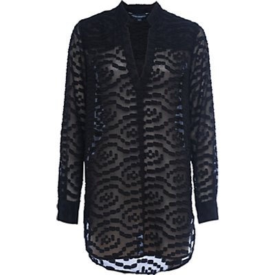 French Connection Ruby Sheer Pull Over Shirt