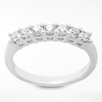 Diamond Collection 18ct White Gold Round Brilliant Diamond Eternity Ring  0 5ct - 5055258099370