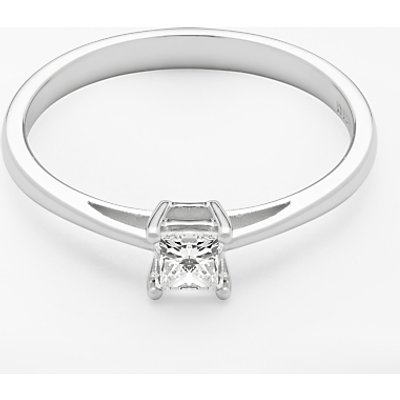 Diamond Collection 18ct White Gold Princess Cut Diamond Engagement Ring  0 33ct - 5055258099790