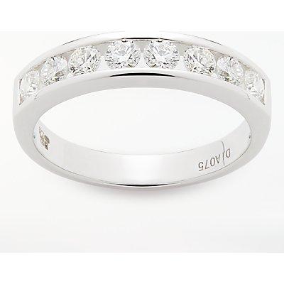 Diamond Collection 18ct White Gold Round Brilliant Channel Set Diamond Eternity Ring  0 75ct - 5055258099578
