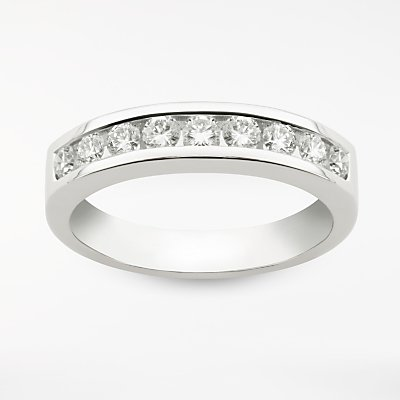Diamond Collection 18ct White Gold Round Brilliant Channel Set Diamond Eternity Ring  0 5ct - 5055258099530