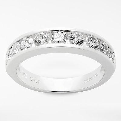 Diamond Collection 18ct White Gold Round Brilliant Channel Set Diamond Eternity Ring  1ct - 5055258099615